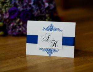 efektowne eleganckie zaproszenie na ślub i wesele